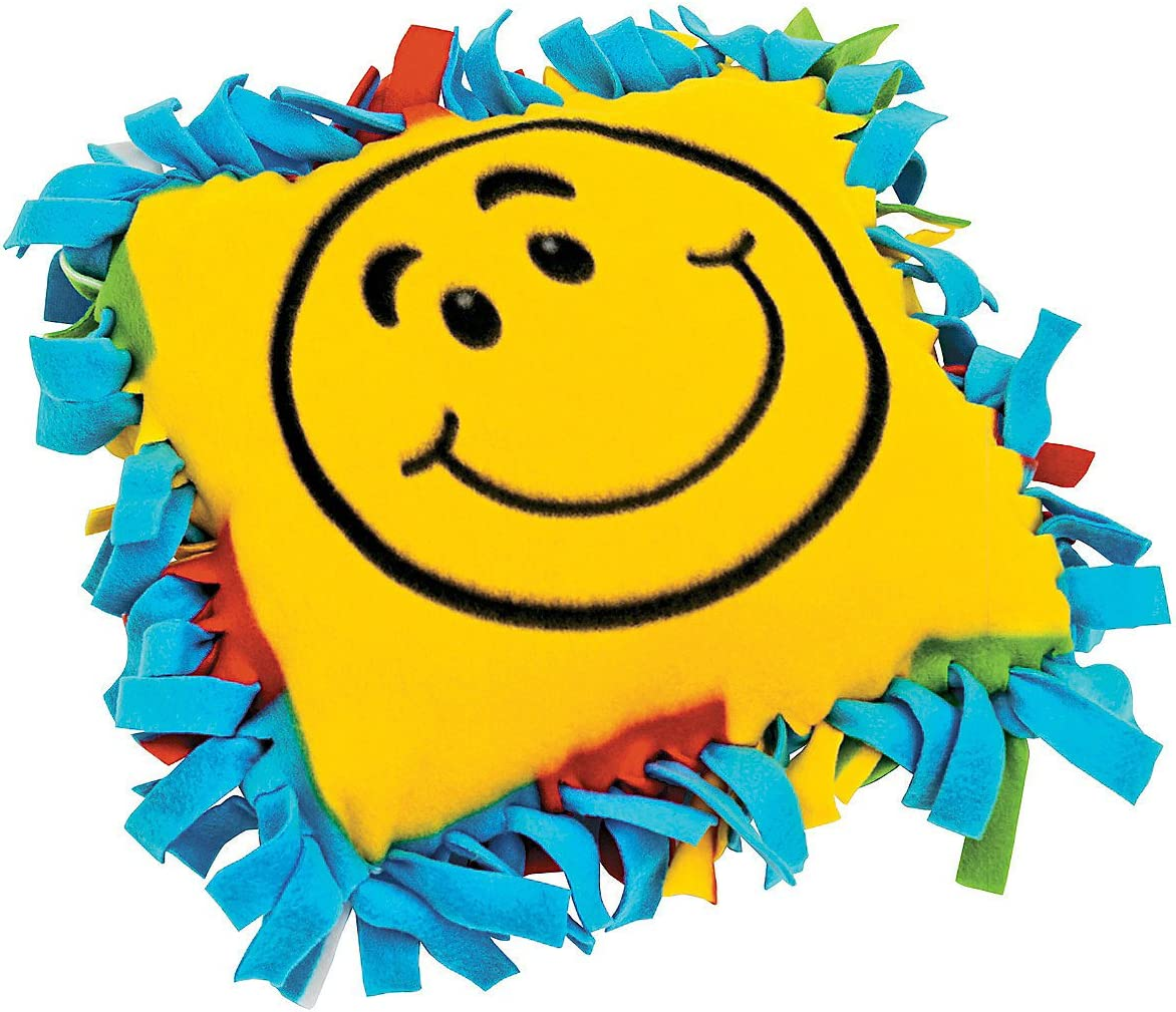 Smile Face Fleece Pillow Craft Kit - Crafts for Kids and Fun Hom