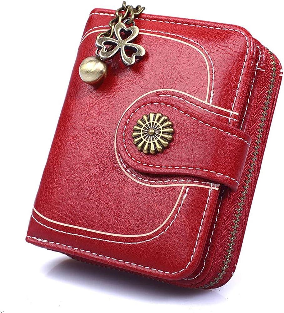 Tobe-u, portafoglio, porta carte di credito e portamonete, in pelle , per donna SS28000-Style 3-Wine RedJP