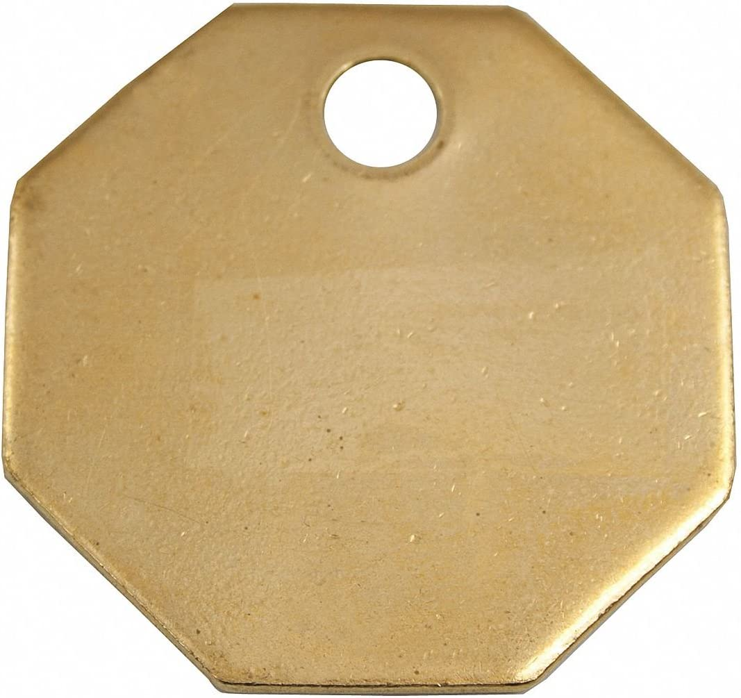 CH Hanson Brass Blank Tag Octagonal 1-1 Classic 25% OFF P Height 4