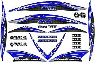 AMR Racing Jetski Graphics Kit Sticker Decal Compatible with Yamaha WaveRunner VX110 Sport 2005-2009 - Blue