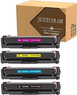 خراطيش حبر متوافقة من جوستكولور لطابعات اتش بي 410A CF410A CF411A CF412A CF413A للون LaserJet Pro MFP M477fnw M477fdn M477...