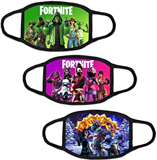 (3 PCS) Fortnite Face Mask Halloween Kids/Youth Outdoor Fort-night Dust Protection Bandanas Breathable Balaclava Neck Gaiter