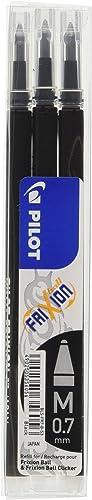 PILOT - Ecriture - 3 recharges Pilot FriXion Noir-0.7mm
