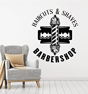 VVWV Barbershop Wall Stickers Haircut Salon Beauty Parluor Quotes Massage Spa Make Up Nail Art Decal Wall Decoration L X H...