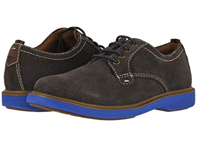 Florsheim Kids Supacush Plain Toe Ox, Jr. (Toddler/Little Kid/Big Kid) (Gray Suede/Navy Sole) Boy