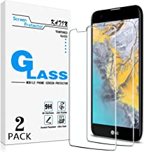 KATIN LG K10 Screen Protector - [2-Pack] LG K10 Tempered Glass Screen Protector Bubble free, 9H Hardness with Lifetime Rep...