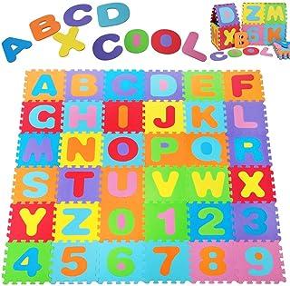Deuba Alfombra puzzle para niños bebe 86 piezas 26 letras y