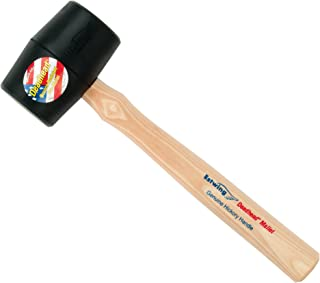 Estwing Deadhead Rubber Mallet - 12 oz Soft-Face Hammer with Bounce Resistant Head & Hickory Wood Handle - DH-12