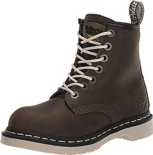 Dr. Martens, botas industriales ligeras con punta de acero con cremallera de arce para mujer