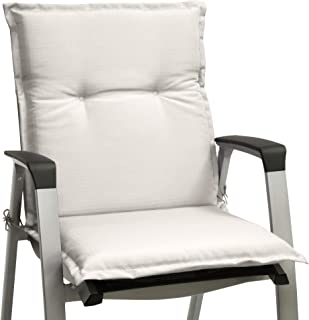 Beautissu cojín para sillas de Exterior, tumbonas, mecedoras o Asientos con Respaldo bajo Base NL 100x50x6 Placas compactas de gomaespuma - Natural