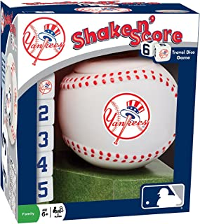 MasterPieces MLB New York Yankees Shake N' Score Travel Dice Game, for 2 Players, Ages 6+