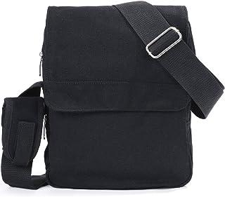 74adabb78b054 Eshow Men's Canvas Messenger Bag Shoulder bags Mens Satchel bag Cross body  Bag