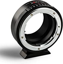 Viltrox NF-FX1 Manual Focus Lens Mount Adapter for Nikon G&D Mount Series Lens to Fuji FX Mirroless Camera X-T2 X-T3 X-T20 X-T10 X-E3 X-A3 X-PRO2 X-A20 with Aperture Dial