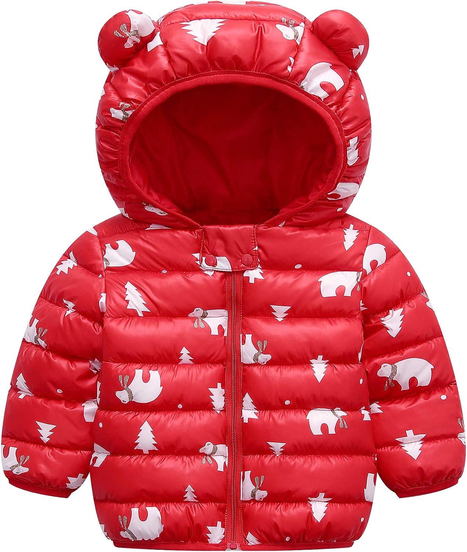 LUOUSE Baby Kids Boys Girls Lightweight Warm Cotton Coat Hoods Jacket Outwear