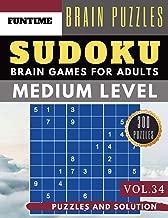Medium Sudoku: Huge 300 medium SUDOKU books | sudoku medium difficulty Maths Book to Challenge Your Brain for Adult and Senior (sudoku medium puzzle books Vol.34)