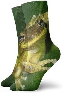 tyui7, Calcetines de compresión antideslizantes para ranas y agua Calcetines deportivos de 30 cm para hombres, mujeres y niños