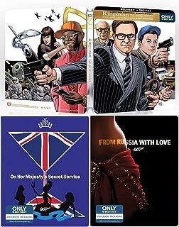Super-Secret Organization Kingsman Service Sean Connery James Bond Steelbook Collection 007 Blu Ray Russia with Love & Majesties Secret Service film Action Movie Set