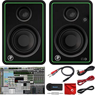 Mackie CR3-X 3-Inch Creative Reference Multimedia Monitors Bundle with Pro Tools First DAW Music Editing Software, Wireles...