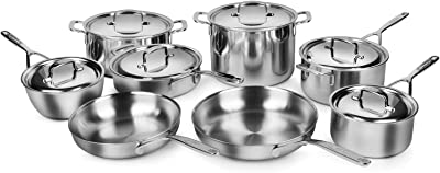 Demeyere 5-plus Stainless Steel 14-piece 5-ply Cookware Set