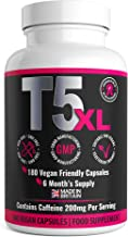 T5 XL Fat Burner 180 Capsules 6 Months Supply Weight Loss Fat Burner Diet Pills UK Made by GirlyFuels for Women Men Vegan and Vegetarian Friendly Estimated Price : £ 14,99