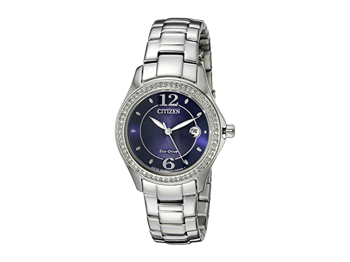 Citizen Watches  FE1140-86L Eco-Drive Silhouette Crystal (Silver Tone Stainless Steel) Watches