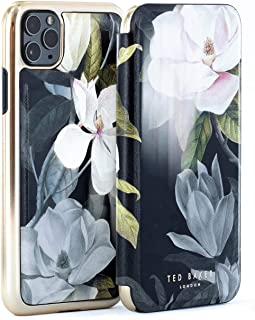 Ted Baker Fashion Premium Book Case for iPhone 11 Pro Max, Protective Cover iPhone 11 Pro Max for Professional Women/Girls - Opal