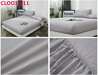 Solid Color Soft Polyester Fabric Fitted Sheet Mattress Cover with Elastic Rubber Band Bed Sheet,Cloo1-011,45X75cm(Pillowcase)