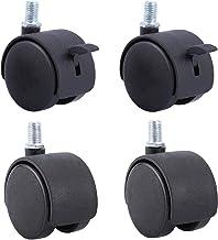 50mm Swivel Caster Wheels 2 Inch Nylon 360 Graden Roteren Meubels Caster Wiel Vervanging Caster, Bureau Wielen, Dubbelwie...