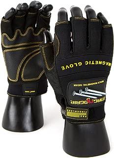 MagnoGrip 002-757 Pro Fingerless Magnetic Glove, Large, Black
