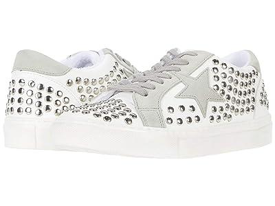 Steve Madden Turner-S Sneaker (White/Stud) Women