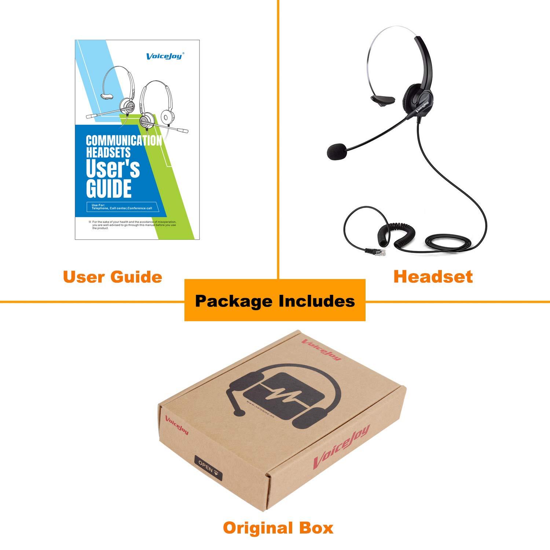 Accessories Headsets VoiceJoy 4 Pin RJ9/RJ10/RJ12 Plug Headphone ...