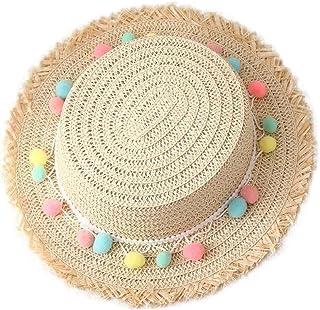 TARTIERY Sombrero De Paja Ocio Sombrero De Playa De ala Ancha Protector Solar Visera Sombrero De Paja Verano Estilo Chino Muchachos Sombrero De Vaquero De Paja