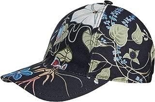 Unisex Flora Knight Black Cotton Linen Baseball Hat 372689 1000