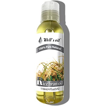 Well's 100% Pure Rice Bran Oil 4oz / Antioxidant/Rich in Vitamin E, A, and B12 / Moisturizes
