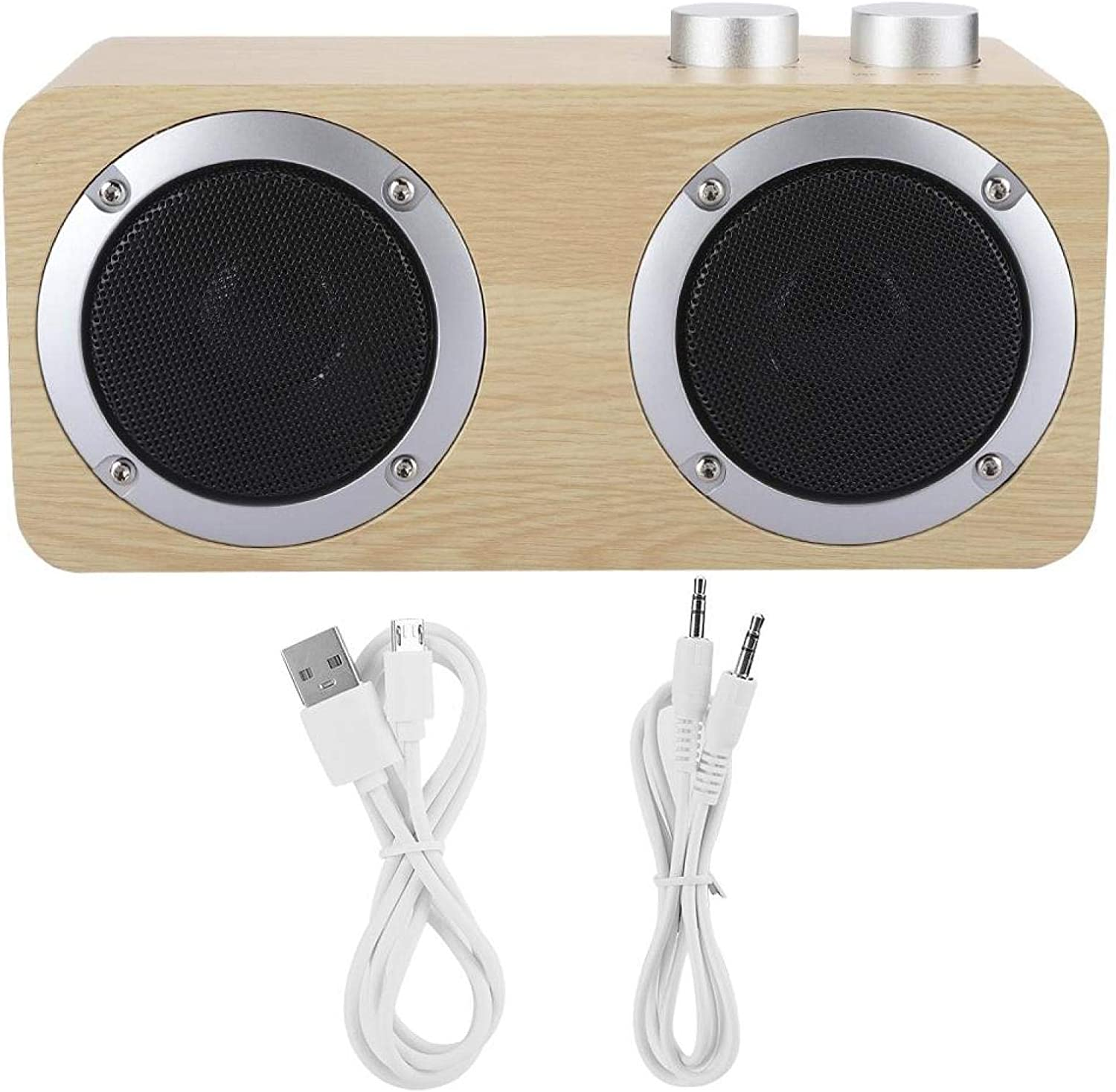 Qqmora Bluetooth Speaker Wooden Free shipping Bombing new work on posting reviews Rotary Knob with