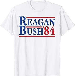Reagan Bush 84 T-Shirt 1984 Ronald Reagan Campaign Logo GOP
