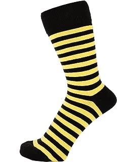 Finest Combed Cotton Striped Dress Socks for Men, Women