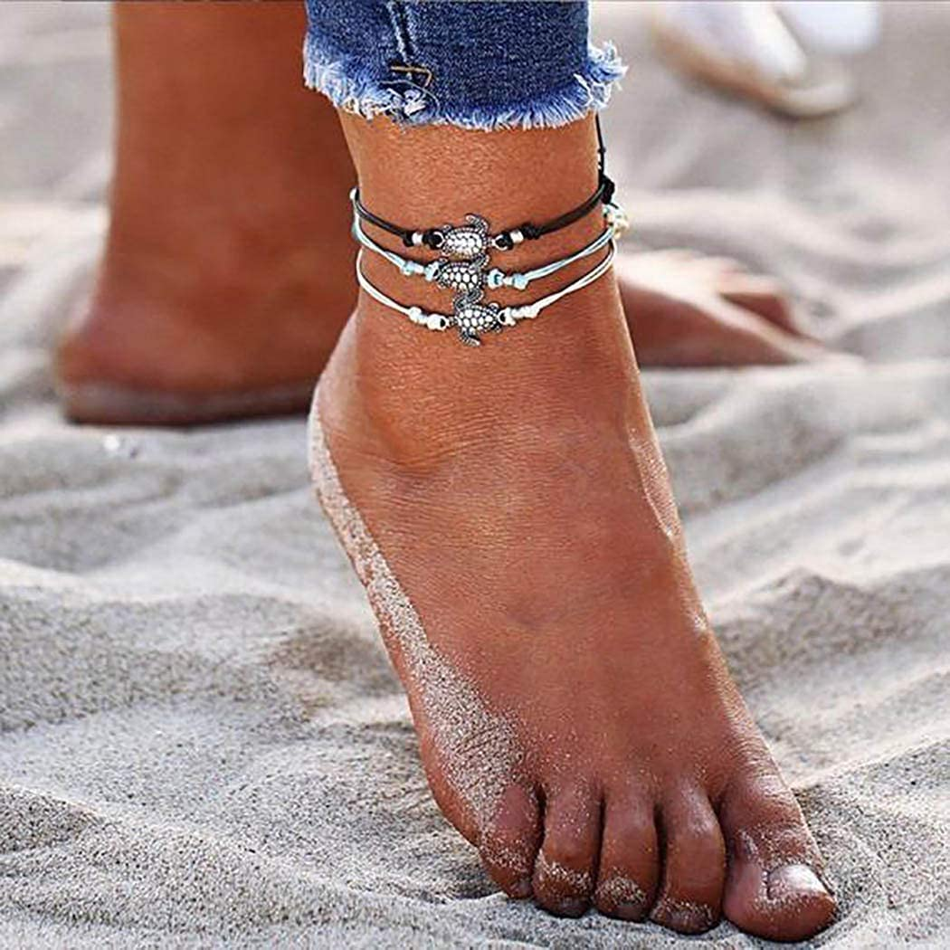 Clearance SALE Limited time 3PCS Women Popular products Anklet Anklets Layered Turtle Sea Brace Ankle