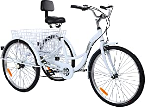 "MuGuang Triciclo Adulto 26"" 7 velocidades Bicicleta 3"
