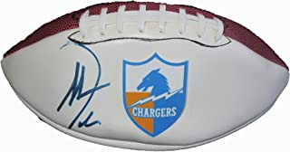 Antonio Gates Autographed San Diego Chargers Logo Football W/PROOF, Picture of Antonio Signing For Us, San Diego Chargers, Pro Bowl, Kent State, Los Angeles Chargers