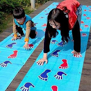 Bee-UAE Kids Hopscotch Play Mat Carpet Children Sport Jumping Rug Lattice Kindergarten Team Game Pad Playroom Childhood Ba...