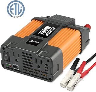 Ampeak 750W Inversor de Corriente 12V a 110V AC Convertidor con 2.1A USB Doble AC Salidas Inversor de Coche