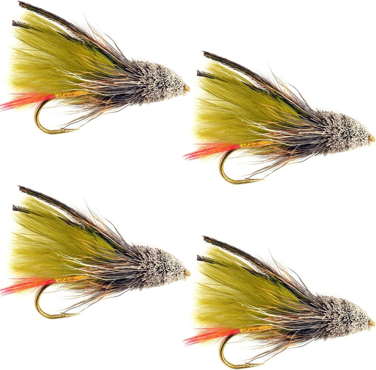 The Fly Fishing Place Limited price Streamers - S Marabou Muddler Olive Easy-to-use Minnow