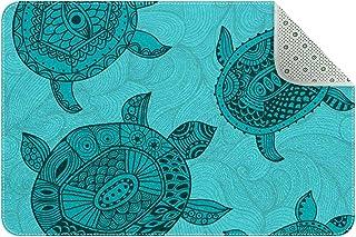 Doormat Custom Indoor Welcome Door Mat, Turtles Home Decorative Entry Rug Garden/Kitchen/Bedroom Mat Non-Slip Rubber 24x16...