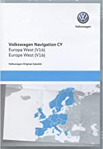 Volkswagen 1T0051859AQ DVD-ROM de navegación Original V16, Europa Occidental, RNS 510/810, Sistema de navegación CY, Software de navegación Volkswagen, actualizado
