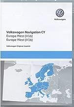 Volkswagen 1T0051859AQ Original DVD-ROM Navegación V16 Europa West RNS 510/810 Sistema de navegación CY Navi Software VW Update
