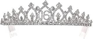 Birthday Party Rhinestone Crystal Tiara Crown - Sweet 16th Sixteenth T1159