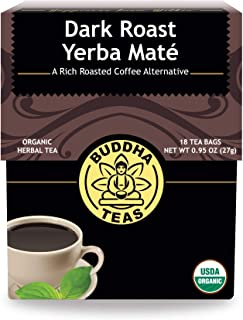 Organic Dark Roast Yerba Maté – 18 Bleach-Free Tea Bags – Stimulating Tea with Medium Levels of Caffeine, Natural Source o...
