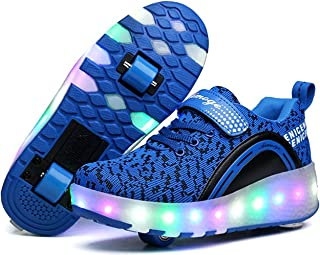 LED Light Up Shoes Kids Girls Boys Breathable Flashing Slip-On Sneakers