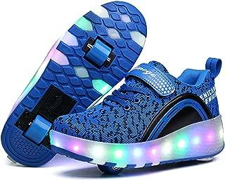LED Light Up Shoes Kids Girls Boys Breathable Flashing Slip-On Sneakers